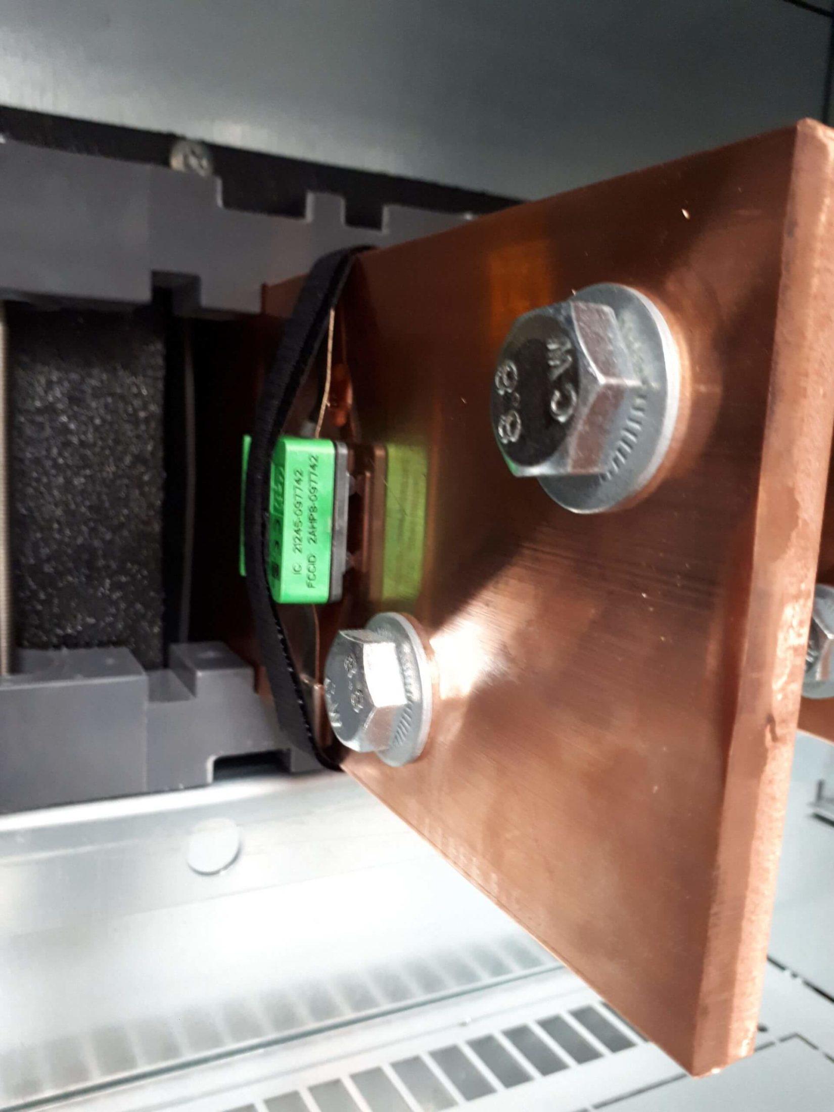 Een temperatuursensor specifiek om hotspots op elektrische borden in kaart te brengen.