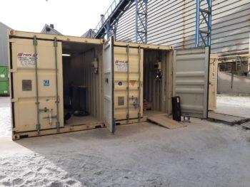 141 schakelaars revampen betekent veel maatwerk. Dus kozen we voor werfcontainers om op locatie te kunnen werken.