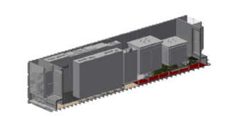 Lay-out van de container.